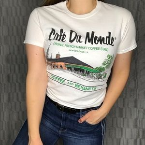 Gildan Cafe Du Monde Coffee & Beignets Tee Shirt